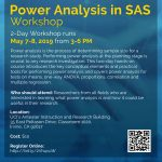 Image of Flyer for Power Analysis in SAS